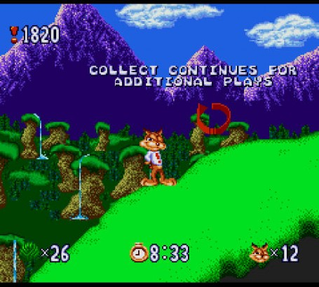 Скриншот №2. Bubsy in Claws Encounters of the Furred Kind