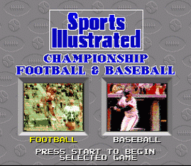 Sports Illustrated Championship Football and Baseball